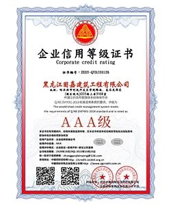 企业信用等级证书(双平台)